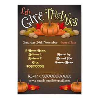 Rustic Customisable Thanksgiving Invitation
