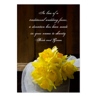 Rustic Daffodil Barn Wedding Charity Favor Card Pack Of Chubby Business Cards