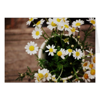Rustic Daisie's in a Vase Cards