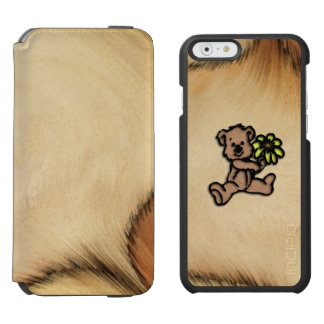Rustic Daisy Bear Design Incipio Watson™ iPhone 6 Wallet Case