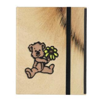 Rustic Daisy Bear Design iPad Case