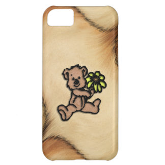 Rustic Daisy Bear Design iPhone 5C Case
