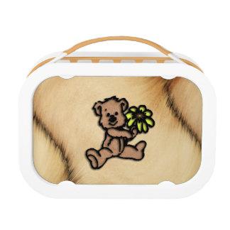 Rustic Daisy Bear Design Lunch Box