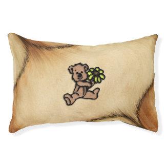 Rustic Daisy Bear Design Pet Bed