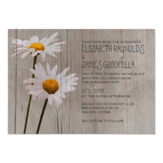 Rustic Daisy Wedding Invitations