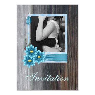 rustic daisy western country vintage wedding 13 cm x 18 cm invitation card