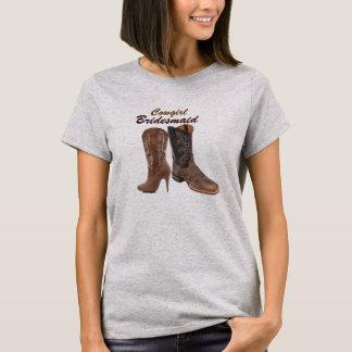 rustic damask Western Cowboy wedding T-Shirt