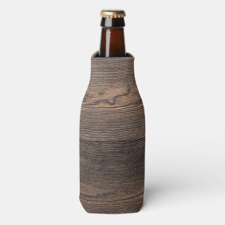 Rustic Dark brown WOOD LOOK texture Bottle Cooler