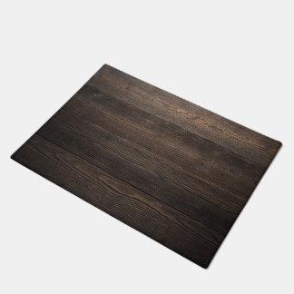 Rustic Dark brown WOOD LOOK texture Doormat