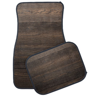 Rustic Dark brown WOOD LOOK texture Floor Mat