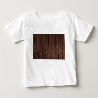 Rustic Dark Brown Wood Wooden Fence Country Style Baby T-Shirt