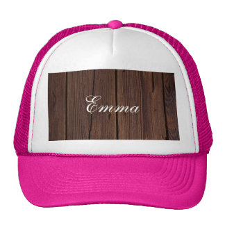 Rustic Dark Brown Wood Wooden Fence Country Style Cap