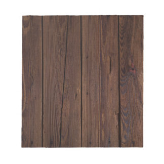 Rustic Dark Brown Wood Wooden Fence Country Style Notepad