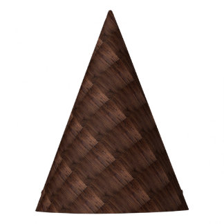 Rustic Dark Brown Wood Wooden Fence Country Style Party Hat