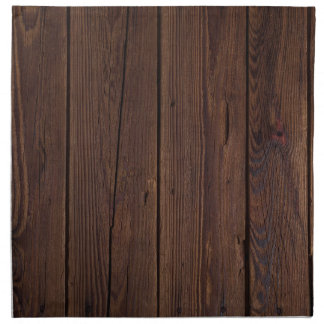 Rustic Dark Brown Wood Wooden Fence Country Style Printed Napkin