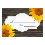 Rustic Dark Wood & Sunflower Wedding Place/Seating Pack Of Chubby Business Cards