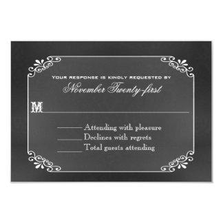 Rustic Decorative Chalk Board Wedding RSVP Card 9 Cm X 13 Cm Invitation Card
