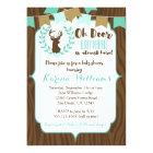 Rustic Deer Baby Shower Invitation, Deer Invite