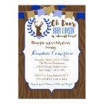 Rustic Deer Buck Baby Shower Invitation, Boy Blue 13 Cm X 18 Cm Invitation Card