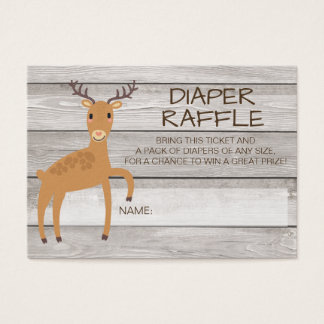 Rustic deer diaper raffle ticket