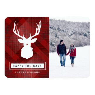 RUSTIC DEER |HOLIDAY PLAID CARD