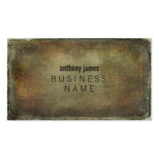 Rustic Distressed Grunge Mens Business Cards