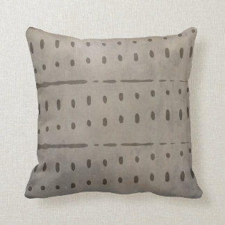 Rustic Distressed Urban Grey and Black Abstract Cushion