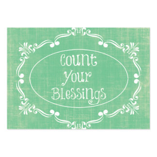 Rustic distressed with Count your Blessings Quote Business Card Template
