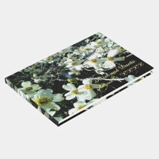 Rustic Dogwood Blossom Wedding Handfasting Vibrant Guest Book