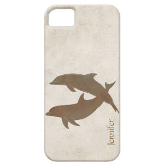 Rustic Dolphins Beach Wedding iPhone 5 Cases