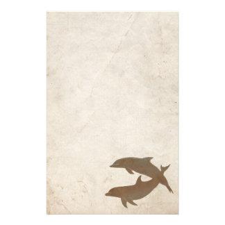 Rustic Dolphins Beach Wedding Stationery