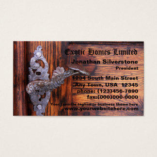 Rustic Door Business Cards