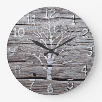 Rustic Driftwood Clock Artwork