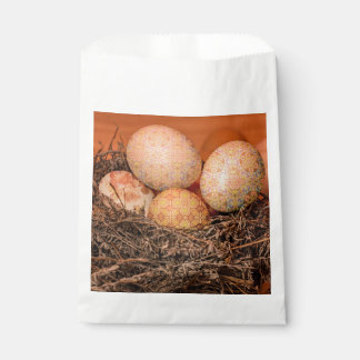 Rustic Easter eggs in nest Favour Bag