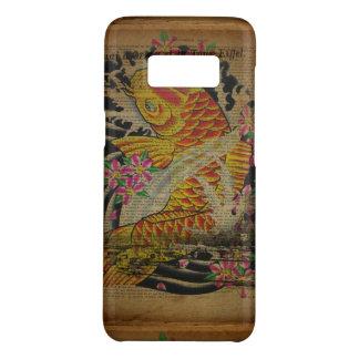 rustic eiffel tower japanese tattoo koi fish Case-Mate samsung galaxy s8 case