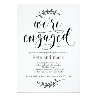 Rustic Elegance Engagement Party Invitation