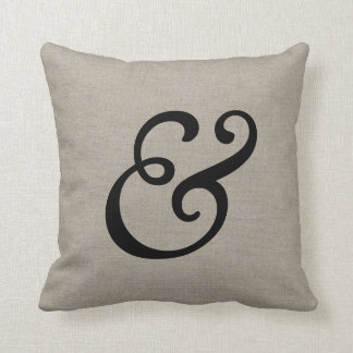 Rustic Elegant Ampersand Cushion