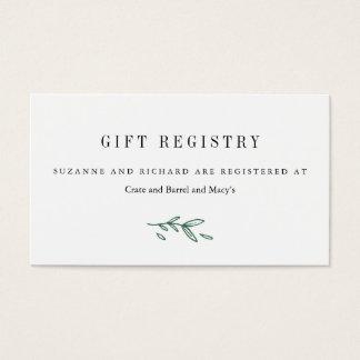 Rustic Elegant Floral Monogram Gift Registry Cards