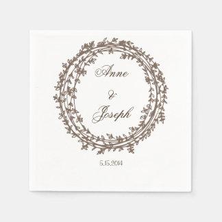 Rustic Elegant wreath napkins Paper Serviettes