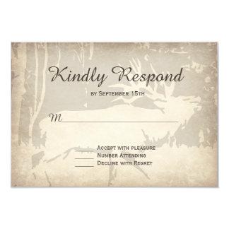Rustic Elk Hunting Wildlife Wedding RSVP Cards 9 Cm X 13 Cm Invitation Card