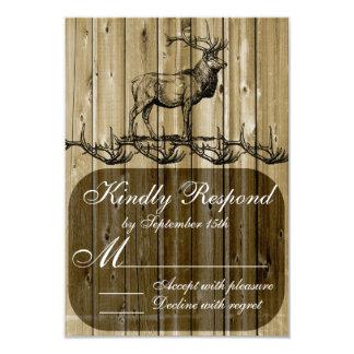 Rustic Elk Wildlife Hunting Wedding RSVP Cards 9 Cm X 13 Cm Invitation Card