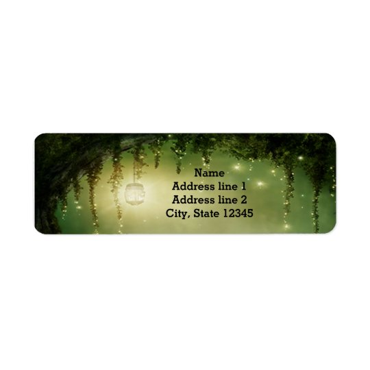 Rustic Enchanted Lighted Romantic Address Labels