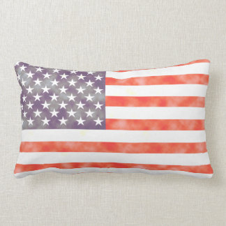 Rustic Faded American Flag Throw Cushions