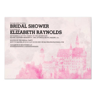 Rustic Fairytale Castle Bridal Shower Invitations
