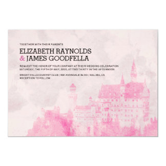 Rustic Fairytale Castle Wedding Invitations