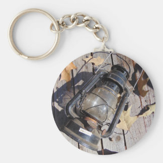 Rustic Fall Basic Round Button Key Ring
