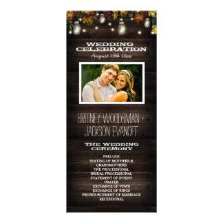 Rustic Fall Firefly Mason Jar Wedding Programs Rack Card