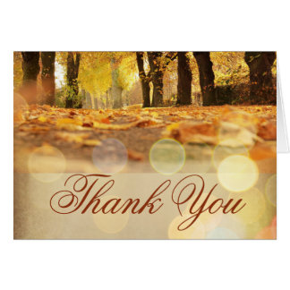 Rustic Fall Leaves Autumn Thank You Cards