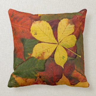 Rustic Fall Leaves Covering Ground Cushion