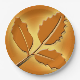 Rustic Fall Wedding Pretty Autumn Leaf Design 9 Inch Paper Plate